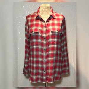 Madewell Fairfield Flannel Plaid Shirt Sz Medium